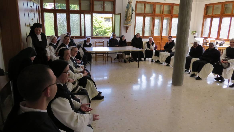 Visita de los estudiantes de Teología de la Orden